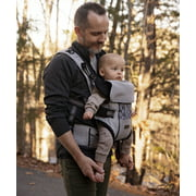 Monbebe Convertible Baby Carrier, Solid Print Gray