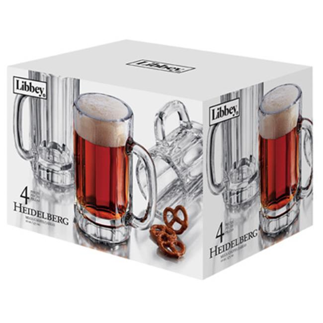 Libbey Glass 89587 4 Piece Heidelberg Beer Mug Set