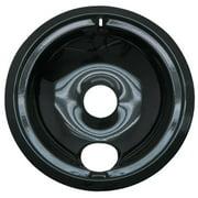 Range Kleen Large Drip Bowl, Style B fits Plug-In Electric Ranges GE/Hotpoint/Kenmore/RCA, Black Porcelain