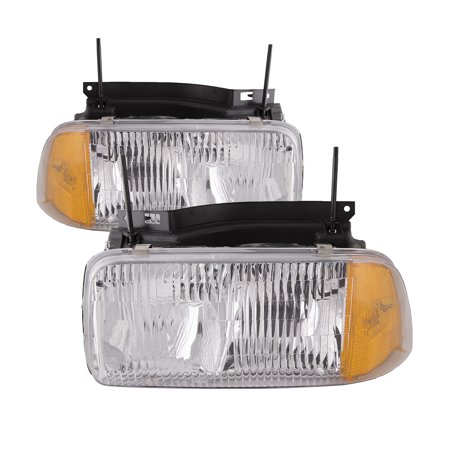 1994-1997 GMC Sonoma/1996-1997 Oldsmobile Bravada Headlights Left Driver Right Passenger Pair Headlamp Assembly GM2502133 &
