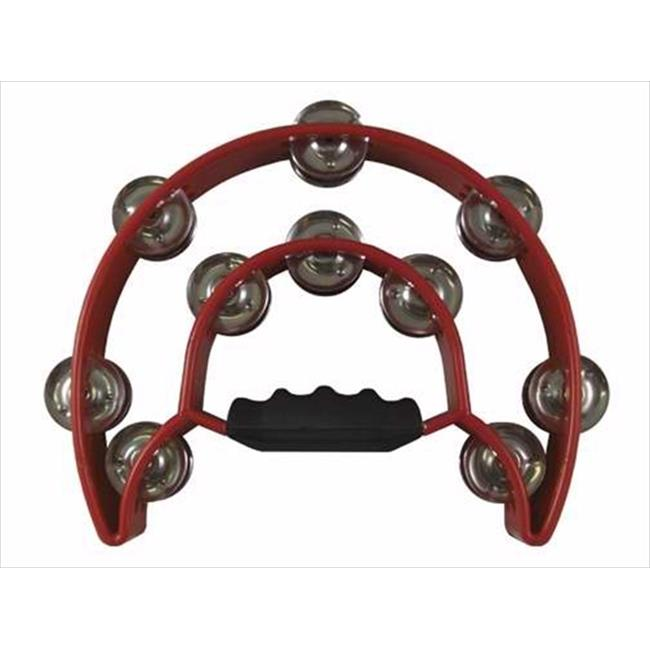 64119 Instr Tambourine Double Moon With Double Cymbals Red