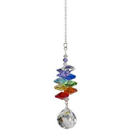 Woodstock Rainbow Makers Crystal Cascade Suncatcher, Genuine Austrian Ball Crystal, 9-Inch Long Multi-Colored