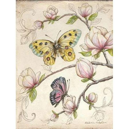 Le Jardin Candlestick - Le Jardin Butterfly V Poster Print by Kate McRostie (9 x 12)
