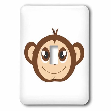 3dRose Cute Baby Monkey Cartoon, Single Toggle Switch