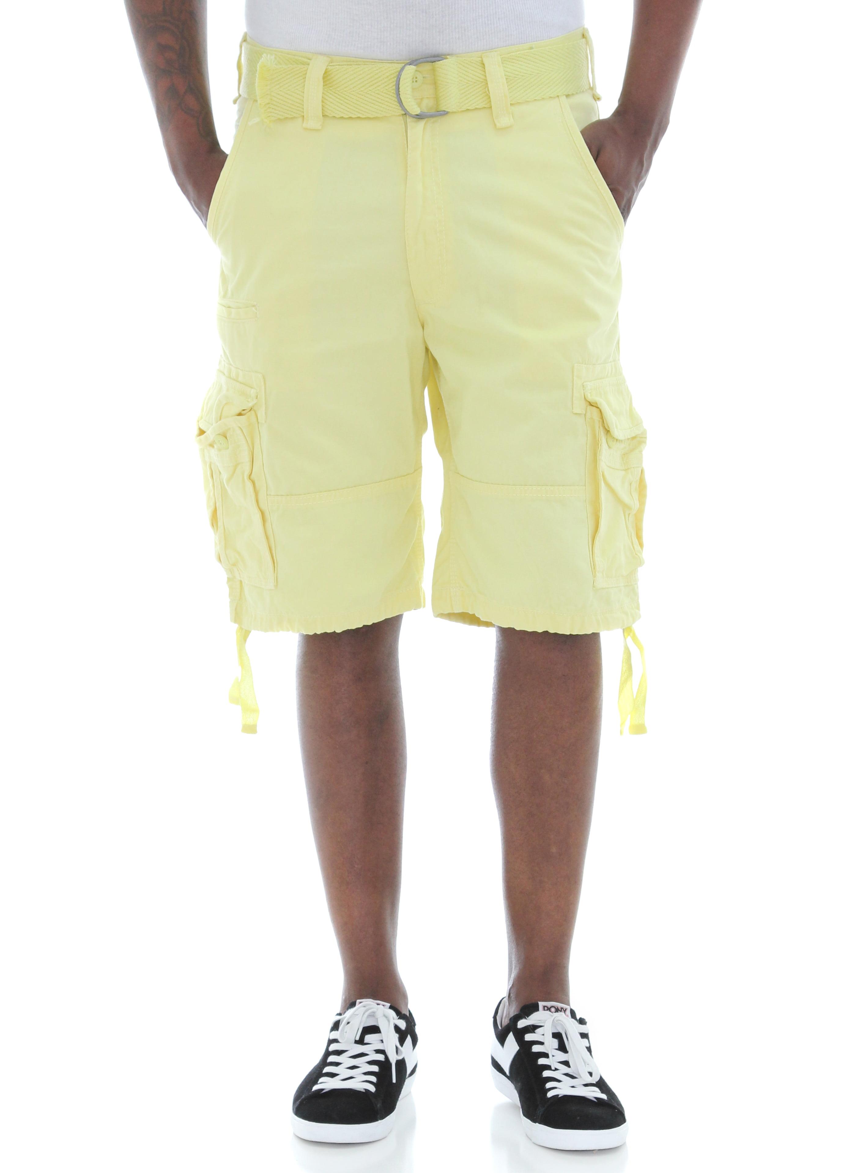 Jordan Craig Men's Basic Solid Twill Belted Cargo Shorts