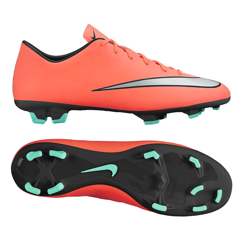 New Nike Mercurial Victory V FG Size 10 Soccer Molded Cleat Orange/Silver 651632