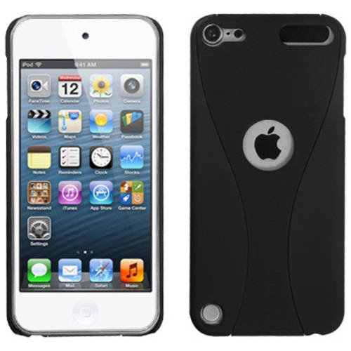 Apple iPod touch 5 MyBat Protector Case, Black/Black Wave Phone Back