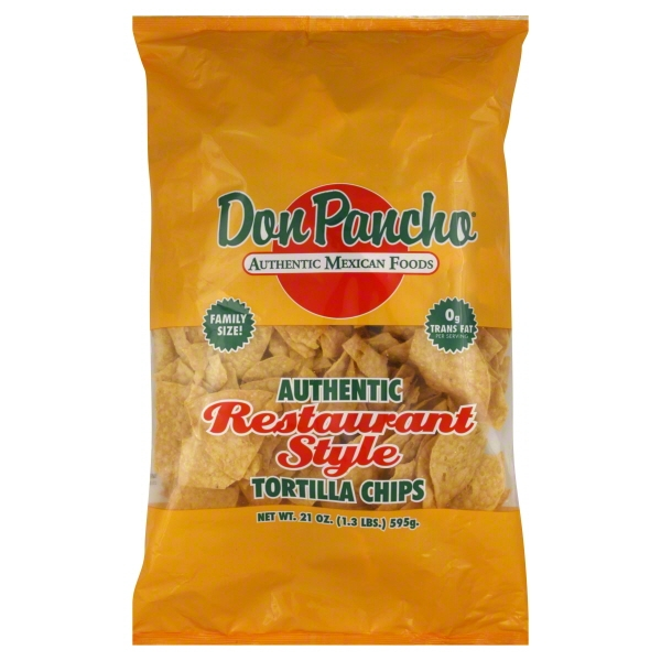 Don Pancho Restaurant Style Yellow Chips, 21 oz