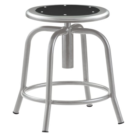 National Public Seating Adjustable Height Designer Stool With Metal Seat