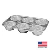 Durable 1500-30 PE 6 Cup Foil Muffin Pan - Case of 500