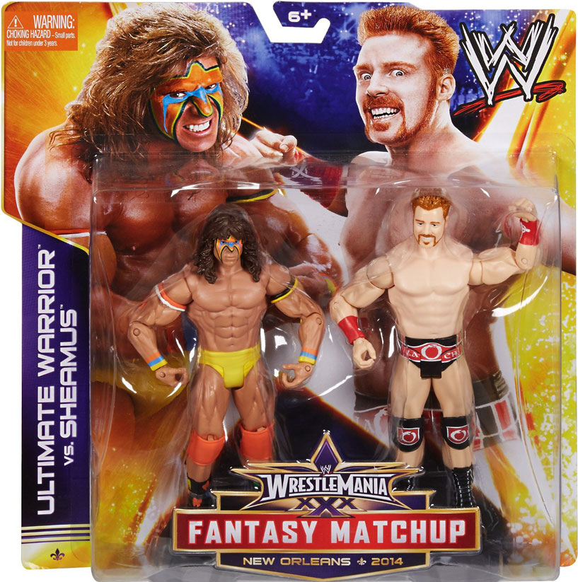 WWE WrestleMania Ultimate Warrior vs. Sheamus Battle Pack Action Figures, 2-Pack