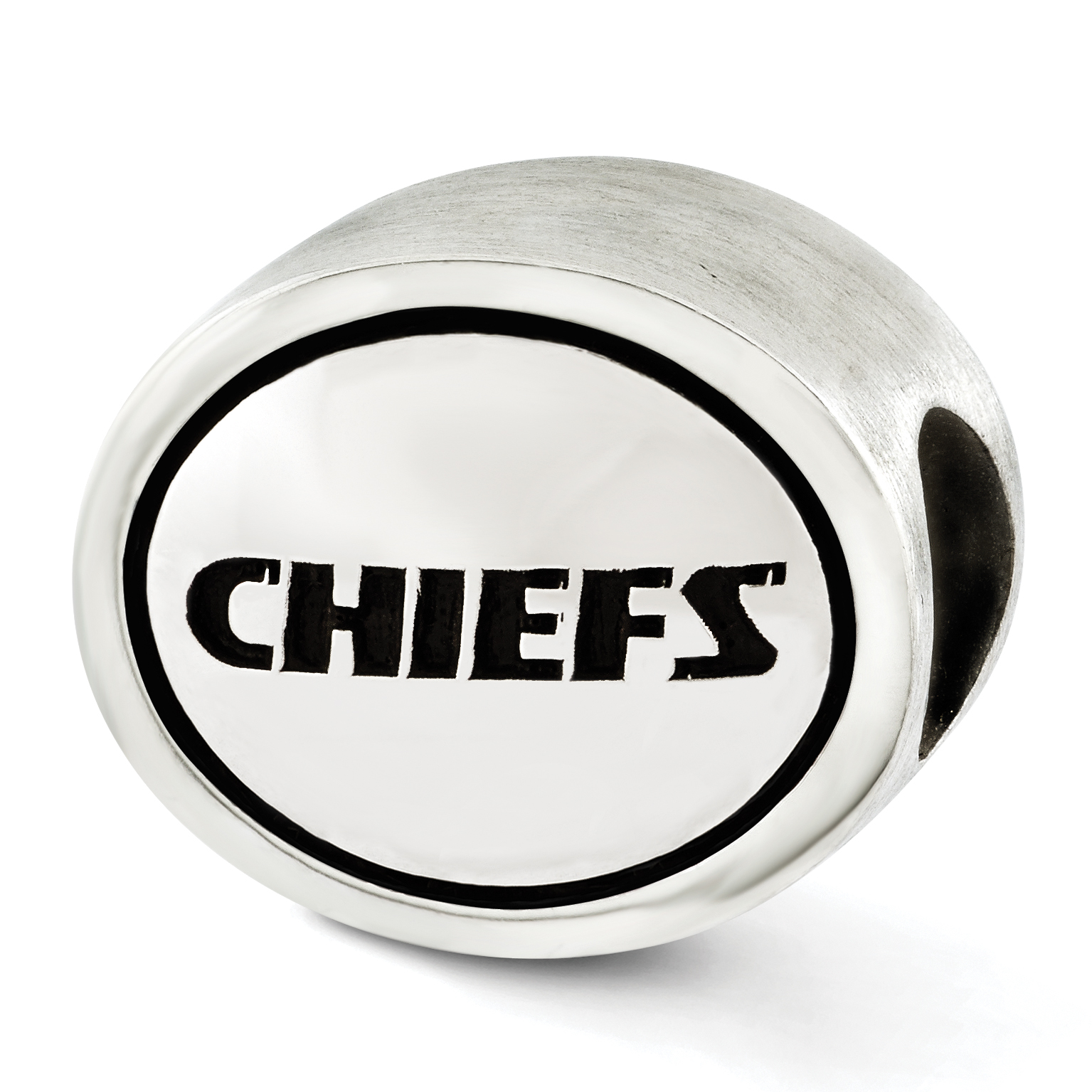 Sterling Silver Antiqued Kansas City Chiefs NFL Bead