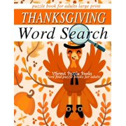 THANKSGIVING word search puzzle books for adults large print: word find puzzle books for adults (Paperback)(Large Print)
