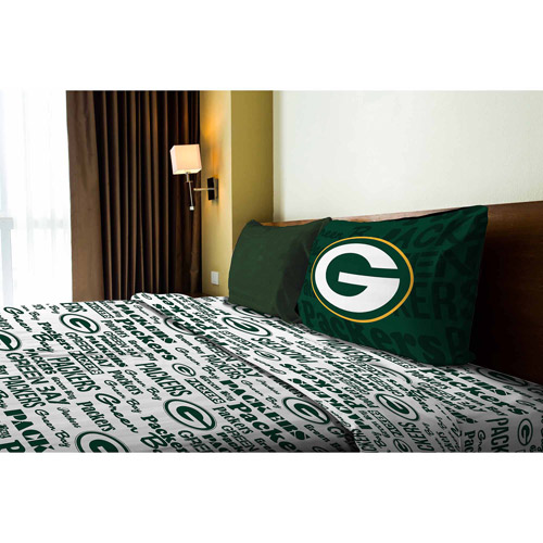 NFL Anthem Bedding Sheet Set, Packers