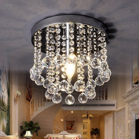 "7.9"" Crystal Chandelier Pendeant Ceiling Lamp LED Modern Light Home Decor E12 (Ceiling Decor)"