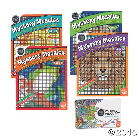 CBN Mystery Mosaics: Best Sellers Set of 4 with 36 Colored