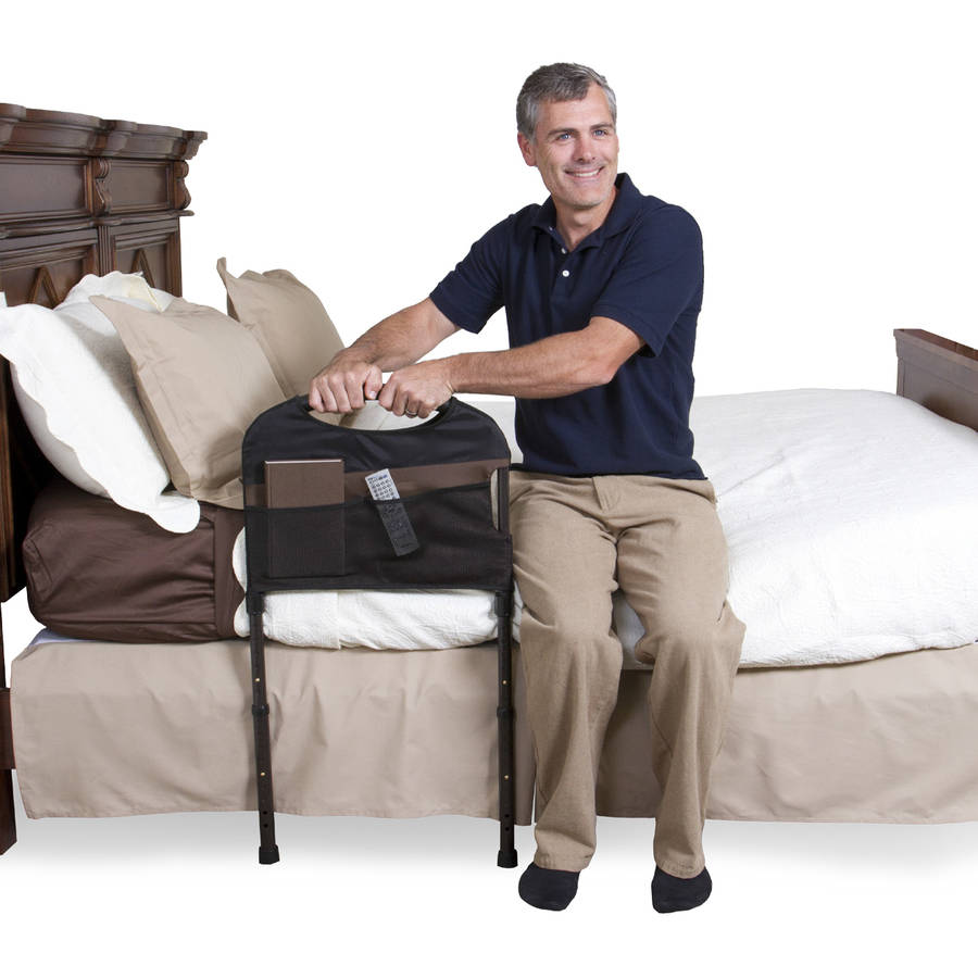 Stander Stable Home Bed Rail - Support Bed Handle + Adjustable Legs & Padded Pouch