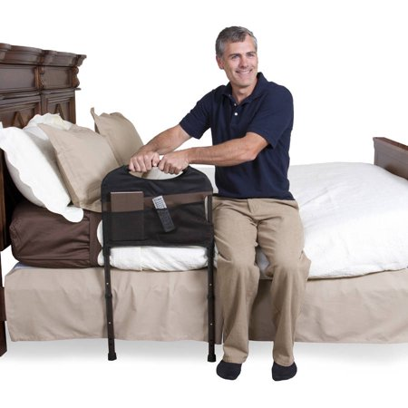 Stander Stable Home Bed Rail   Support Bed Handle   Adjustable Legs   Padded Pouch