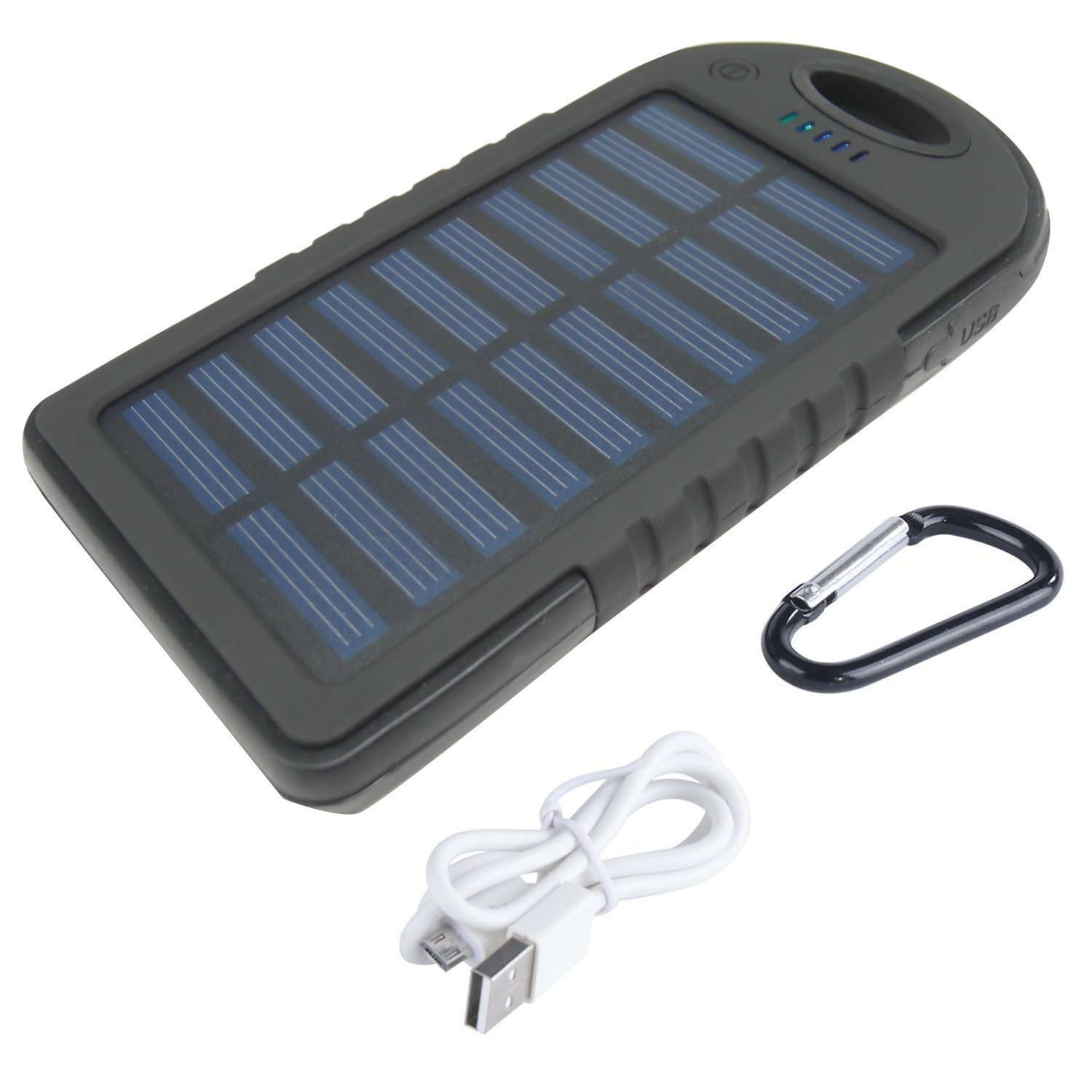 Solar Charger, 5000mAh Portable Solar Power Bank Dual USB Port Solar Phone  Charger With SOS