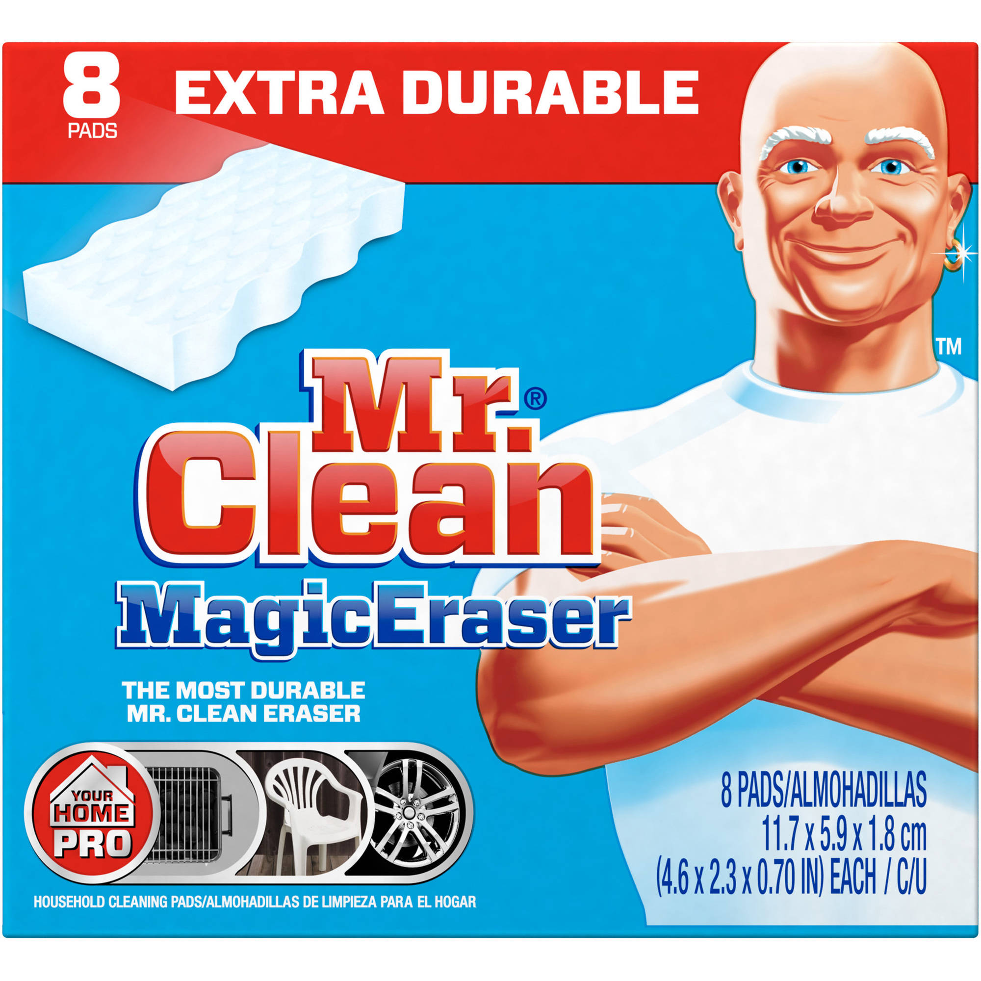 Mr Clean Magic Eraser Meadows & Rains Scent Bath Scrubber 8 count