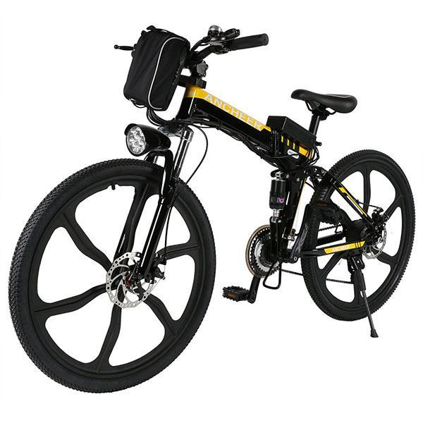 Hot Selling- 26'' 27 Speed Folding  Electric Mountain Bicycle Power with Lithium-Ion Battery