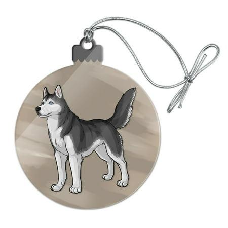 Siberian Husky Pet Dog Acrylic Christmas Tree Holiday Ornament