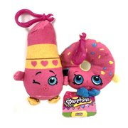 Shopkins Lippy Lips and D'Lish Donut 3.5 Inch Clip On Stuffed Plush Toy