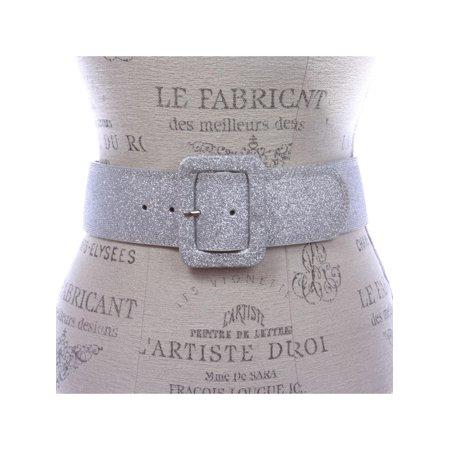 Women's Wide High Waist Glitter Fashion Leather (Best Champagne Veuve Clicquot)