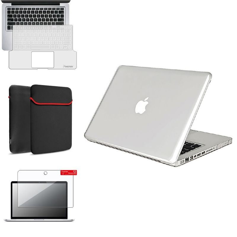 "Insten 4 in1 Clear Case for Macbook PRO13"" +Keyboard Cover+LCD Screen+Bag"