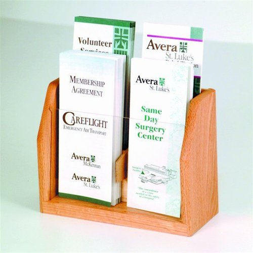 Wooden Mallet LT-4 Four Pocket Countertop Brochure Display
