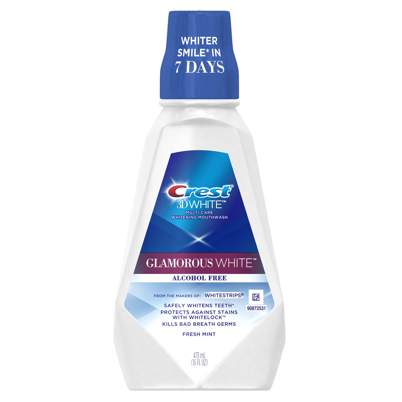 Crest 3D White Glamorous White Mouthwash, 473 mL