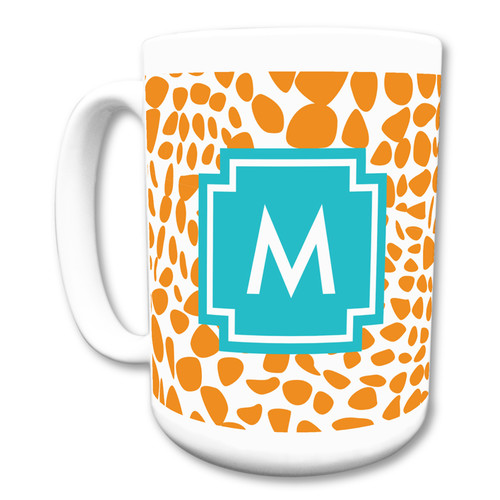 Whitney English Lizard Single Initial Mug