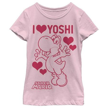 Nintendo Girls' I love Yoshi T-Shirt - Yoshi Costume Pattern