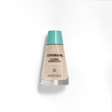 COVERGIRL Clean Sensitive Skin Liquid Foundation Makeup, (Best Light Foundation For Sensitive Skin)