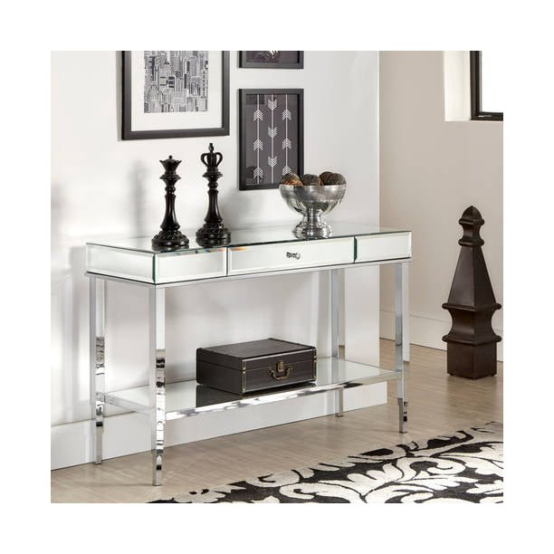 Chelsea Lane Pacey Mirrored Sofa Table
