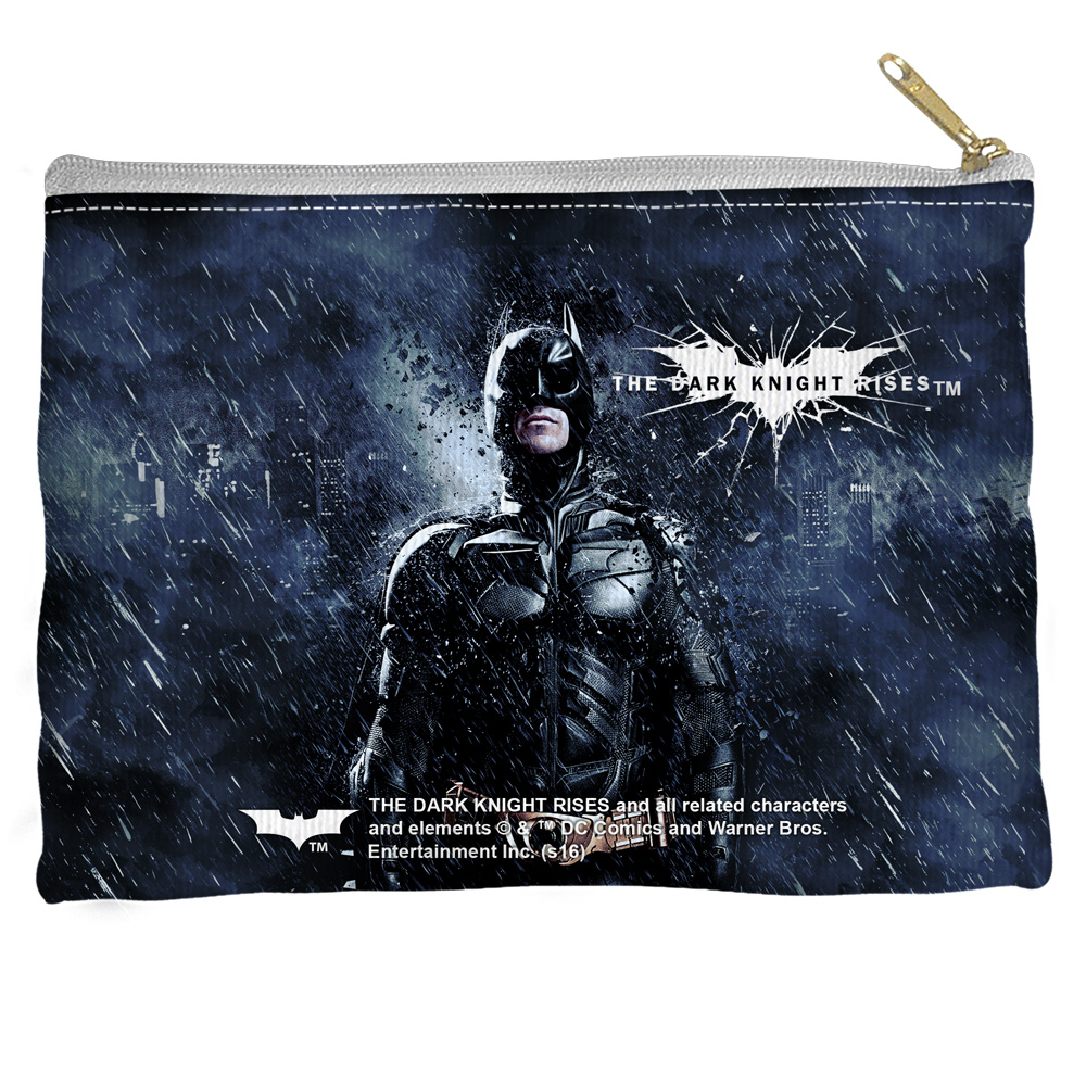 Dark Knight Rises Dark Stormy Knight Accessory Pouch White 8.5X6