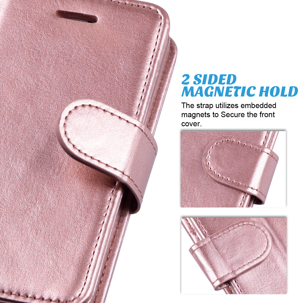 ULAK iPhone 5s//5//SE Wallet Case iPhone SE Case iPhone 5S Case Fashion PU Leather Magnet Wallet Flip Case Cover with Built-in Credit Card//ID Card Slots for 5 5s SE,Minimal Stripe Purple