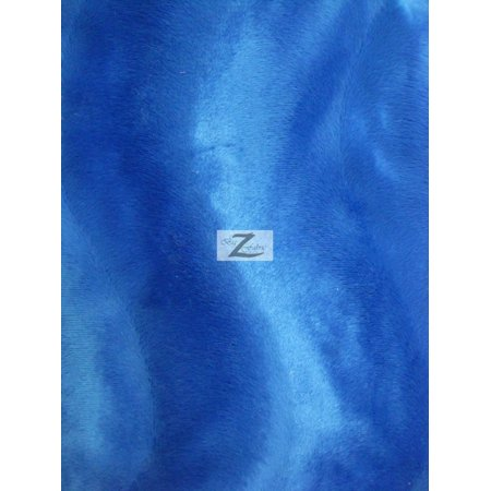 Velboa Faux Fake Fur Solid Wavy Short Pile Fabric / Royal Blue / Sold By The Yard ()