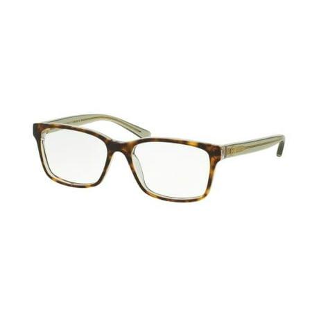 TORY BURCH Eyeglasses TY2064 1561 Crystal Tortoise/Bottle Green 50MM