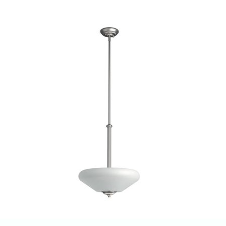 Glass Pendant Light Fixture - Philips Veccia Hanging Ceiling Suspension 3 Light Glass Pendant Fixture, Grey