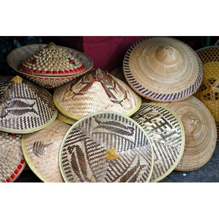 Framed Art For Your Wall Straw Conical Paddy Hat Rice Hats 10x13 - Conical Hat