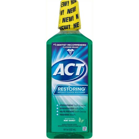 Act Restoring Mint Burst Anticavity Fluoride Mouthwash  18 Oz