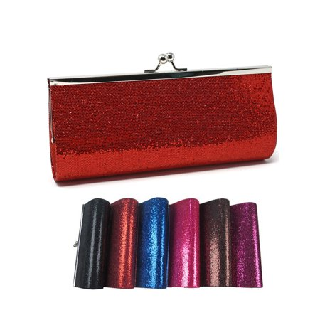 Colorful Glitter Evening Clutch - 10x4 - Vintage Inspired Purse ()