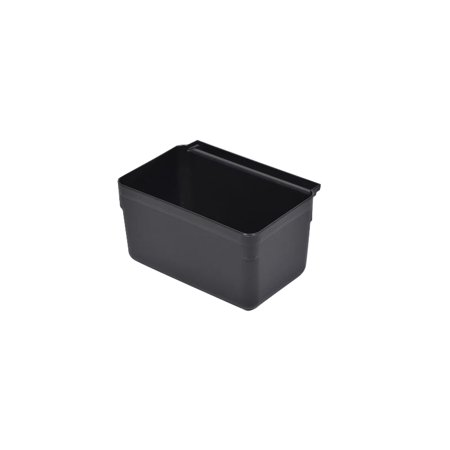 """Image of """"RW Clean Black Plastic Attachable Small Bus Tub - Fits Heavy Duty Rolling Utility Cart - 13"""""""" x 9 1/4"""""""" x 7"""""""" - 1 count box"""""""