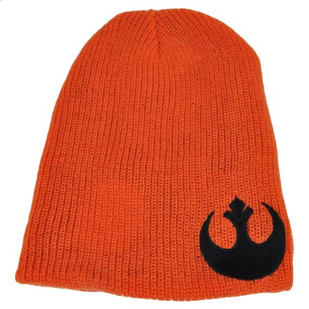 Star Wars Reversible Knit Beanie Galactic Empire Rebel Alliance Orange Blk (Reversible Player Knit)