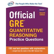 Official GRE Quantitative Reasoning Practice Questions, Second Edition, Volume 1 (Paperback)