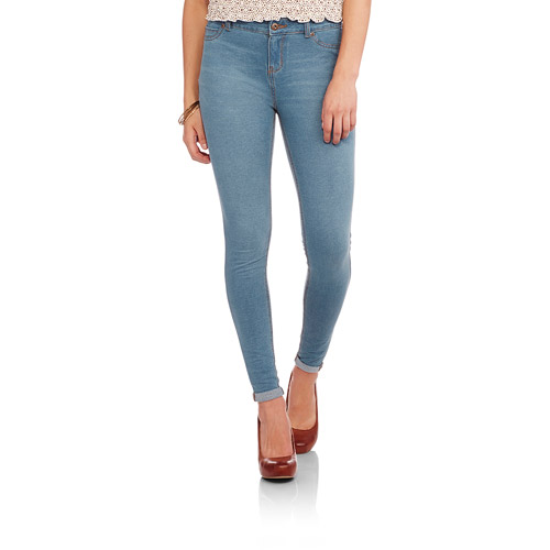 Faded Glory Women's Super Soft French Terry Skinny Jeans - Walmart.com