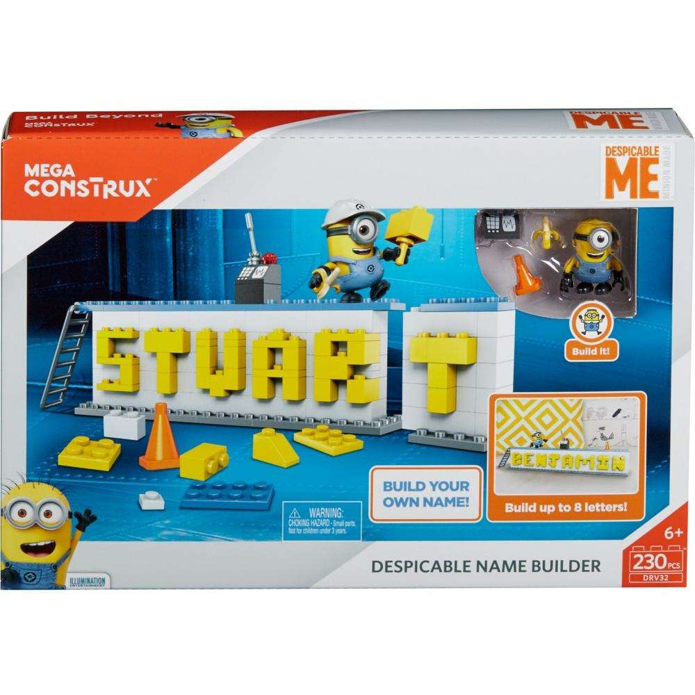 Mega Construx Despicable Me Minions Name Builder