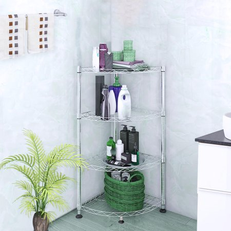 SortWise 4-Tier shower caddy shelf Bathroom Corner Rack ...