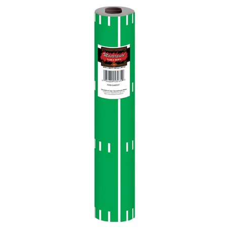 100' Green and White Game Day Football Field Disposable Plastic Banquet Party Table Roll - Football Banquet Ideas